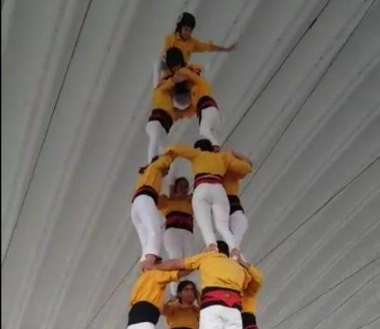 Els Castellers de Santpedor tornen a carregar el 4 de 7