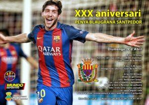Cartell promocional XXX Aniversari Penya Blaugrana Santpedor