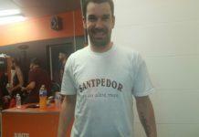 Rafa Martínez exhibeix orgull de Santpedor com a flamant campió de l'ACB
