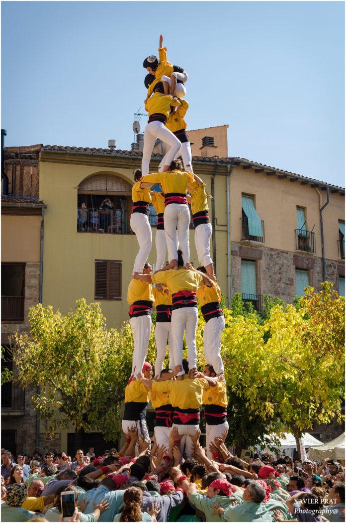 Castellers de Santpedor per la Fira de Sant Miquel 2017 FOTO-CASTELLERS DE SANTPEDOR