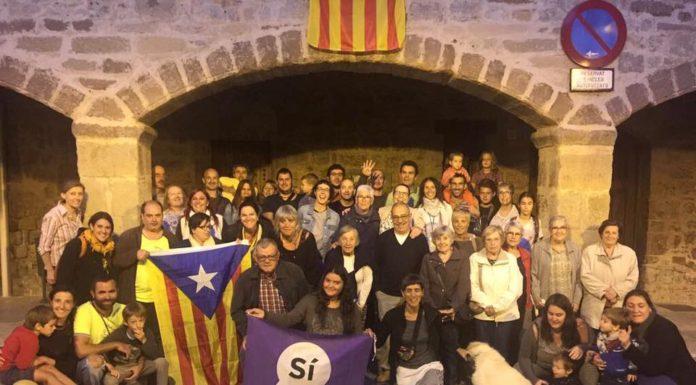 Concentració a Santpedor en defensa del referèndum de l'1-O FOTO-AJUNTAMENT DE SANTPEDOR