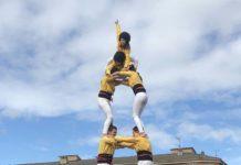 1era actuació dels Castellers de Santpedor al poble al 2018 FOTO.MONTSERRAT XIXONS