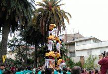 Actuació Castellers de Santpedor a Vilafranca del Penedès FOTO.MIQUEL MORET