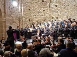 Coral Escriny de Santpedor a l'Auditori Convent de Sant Francesc cantant el Rèquiem de Mozart FOTO.CORAL ESCRINY