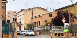 Remodelacions en marxa a les voreres del poble FOTO.AJUNTAMENT DE SANTPEDOR