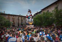 Castell de Penyes després de pregó de la Festa Major de Santpedor 2018 FOTO.XAVIER PRAT