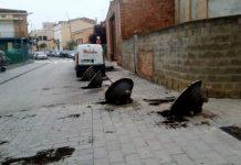Torretes al carrer Anton Vila derrumbades