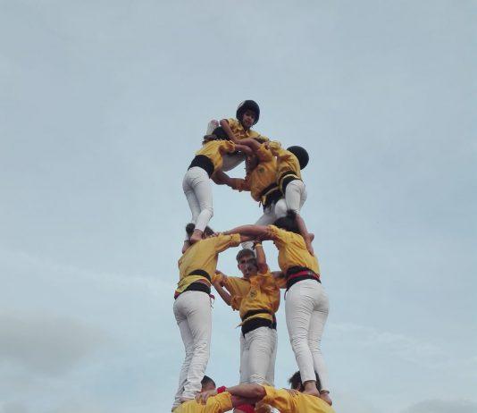 Castellers de Santpedor a Castellar del Vallès FOTO.OLGA SANFELIU