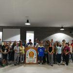 Presents a la inauguració de les noves instal·lacions de Ràdio Santpedor a la Nau