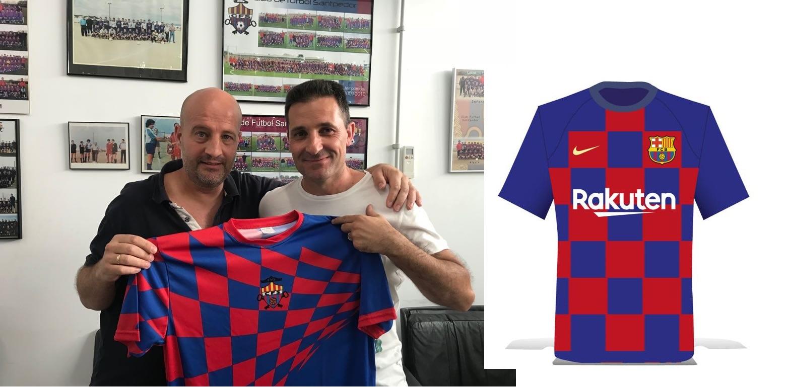 Nova samarreta del CF Santpedor vs samarreta Barça 2019-2020 ce54750a0dc