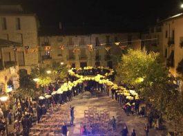 Plaça Gran de Santpedor en un acte del CDR de suport als presos polítics
