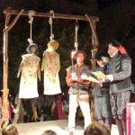 Moment de l'execució a les tres bruixes a la recreació de la cacera de bruixes a Santpedor FOTO.AJUNTAMENT DE SANTPEDOR