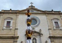 Pilar de 5 dels Castellers de Santpedor per cloure la temporada, a Vic FOTO.CASTELLERS DE SANTPEDOR