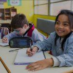 Infants fent classe a l'escola Llissach de Santpedor FOTO-LLISSACH