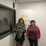 La Bego (esquerre) i l'Imma (dreta) van explicar a Ona Bages què és i quin objectiu té Cuigat