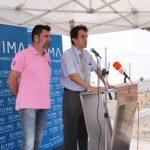 Jaume Fontanet, a la dreta, davant el micròfon