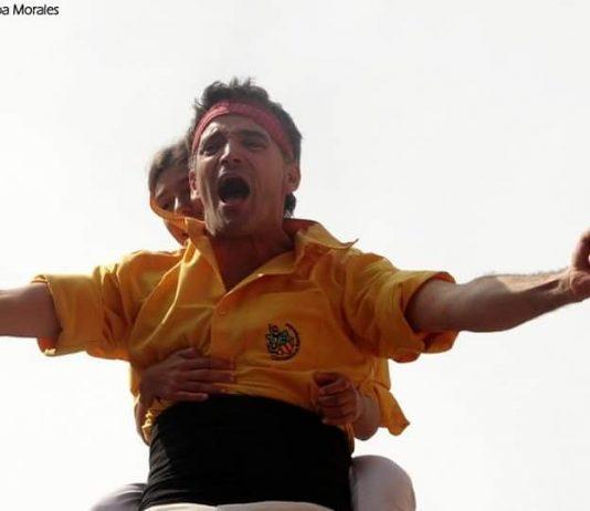 Jordi Prat en una actuació castellera FOTO.AINOA MORALES