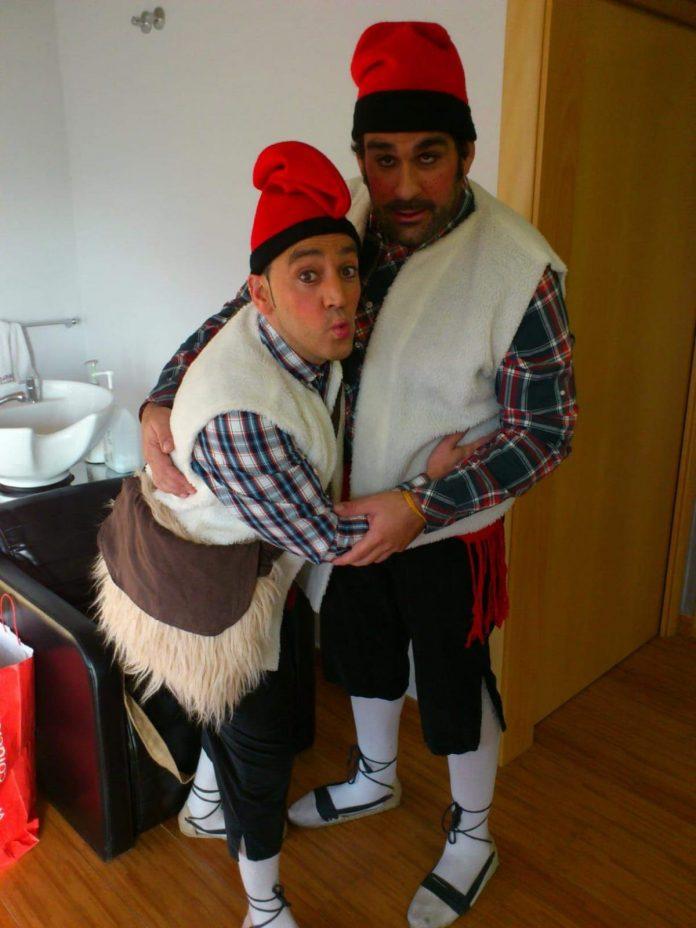 Joan Prat com a Lluquet (esquerre) i Quico Esquius com a Rovelló (dreta) FOTO:JOAN PRAT