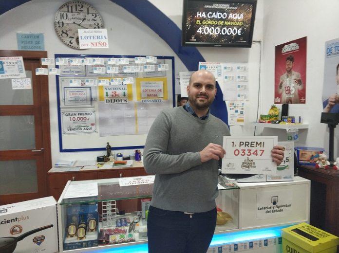 Àlex Parra, propietari de l'administració de loteries Cal Torrabruna de Santpedor
