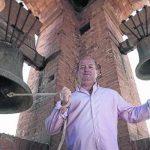 Jordi Espinalt al campaner de l'església de Santpedor FOTO: CAMPANARS.COM
