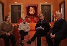 Presentació del nou projecte d'AMPANS i el Col·legi de Periodistes a la sala de plens de l'Ajuntament de Manresa FOTO.AMPANS
