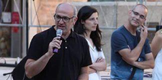 Xavier Codina en campanya electoral quan era candidat a l'alcaldia de Santpedor per ERC FOTO.ERC SANTPEDOR