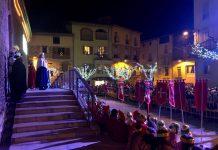 Els Reis Mags a la plaça de l'Església de Santpedor FOTO.AJUNTAMENT DE SANTPEDOR