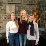 Laia Mascaró, Gemma Mascaró i Laia Espinalt; les noves campaneres de Santpedor FOTO. AJUNTAMENT DE SANTPEDOR