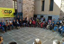 Presentació oficial de la CUP a la placeta del Born de Santpedor FOTO.CUP SANTPEDOR