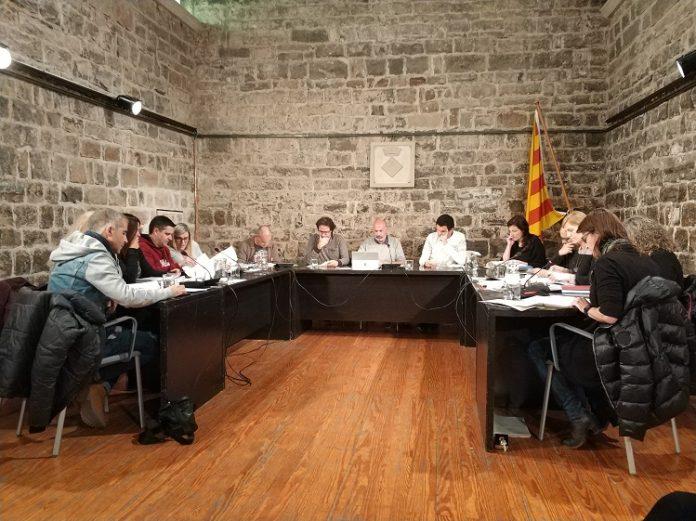 Imatge del ple municipal ordinari de Santpedor del mes de març