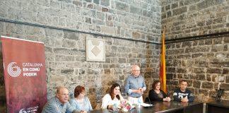 Presentació de la llista d'En Comú Santpedor per les eleccions municipals de 2019 amb Jesus Puig de peu al centre