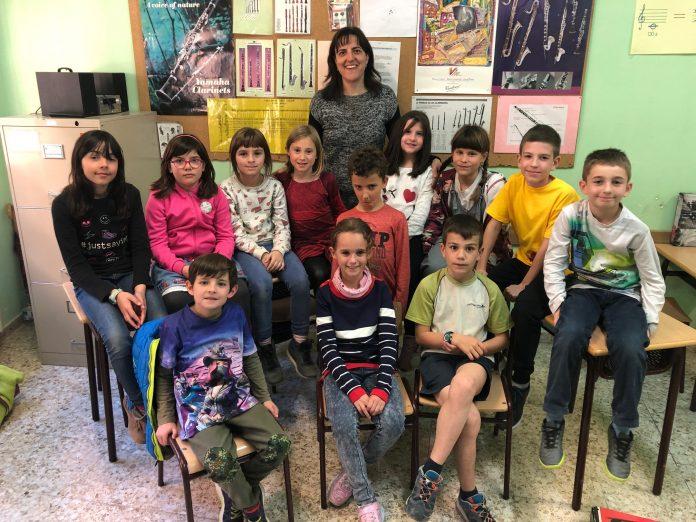 Alumnes de l'Escola Municipal de Música FOTO.AJUNTAMENT DE SANTPEDOR