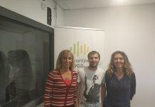 Fina Rodríguez, Xavier Arcos i Rosa Pérez (d'esquerra a dreta) de Progrés Municipal