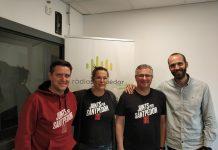 Antoni Puiggròs, Roser Llobera, Josep Solé, i Albert Espinalt, de Junts per Santpedor (d'esquerra a dreta)