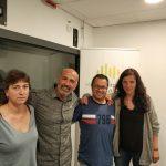 Núria Martínez, Xavier Codina, Jordi Hernández, i Laura Tarradellas (d'esquerra a dreta), números 4, 1, 9, i 2, respectivament, a la llista d'ERC a les eleccions municipals
