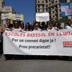 Manifestació a Barcelona avui per reclamar millores al sector de les escoles bressol FOTO:RADIO CIUTAT DE TARRAGONA