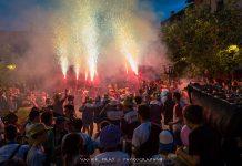 Actuació dels Bous de Foc a la Festa Major de Santpedor 2019 FOTO:XAVIER PRAT
