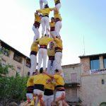 El 4d7 dels Castellers de Santpedor a la Plaça Gran FOTO.CASTELLERS DE SANTPEDOR