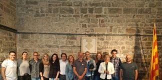 Tots els regidors en l'últim ple de la legislatura a Santpedor