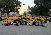 Els Castellers de Santpedor a Madrid. - Foto: Castellers de Santpedor