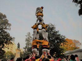 4 de 6 dels Castellers de Santpedor a Madrid. - Foto: Montserrat Casòliva.