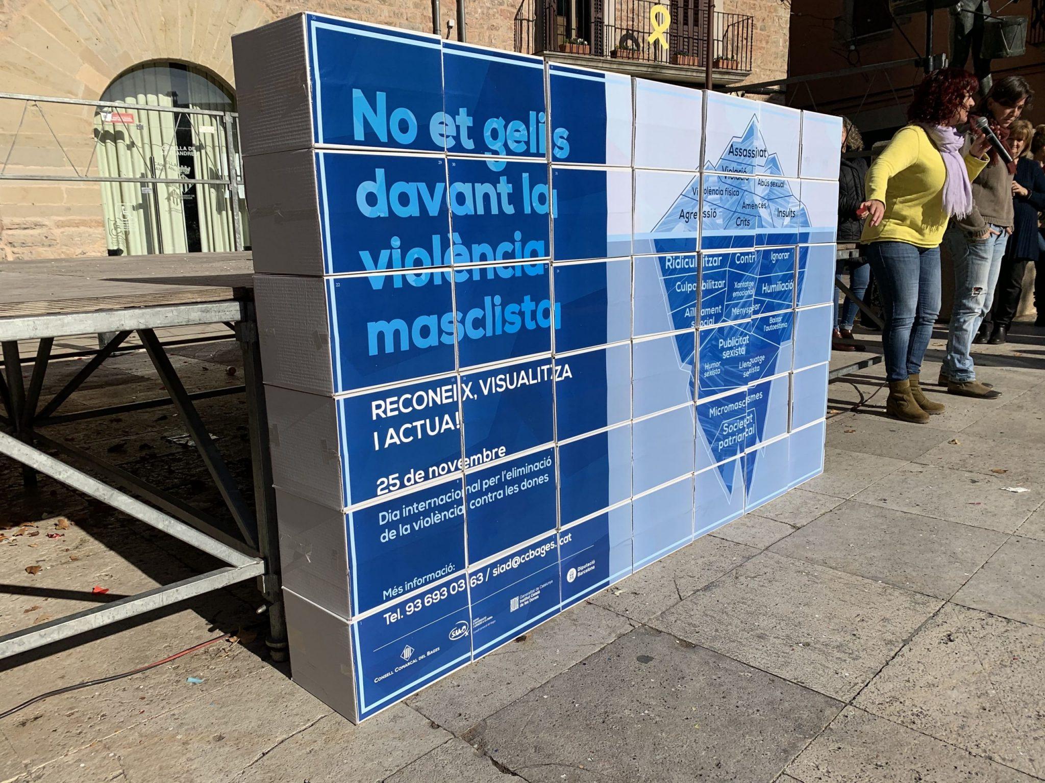 Presentació de l'Iceberg de les violències masclistes.