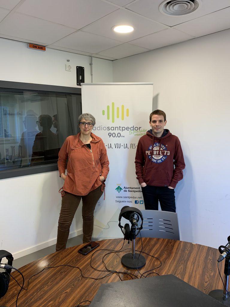 Mònica Torres i Marc Reguant a Ràdio Santpedor.