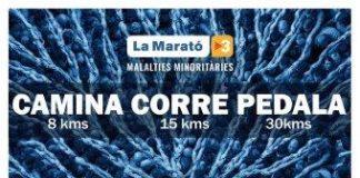 Cartell de l'activitat del 2x2 per la Marató de TV3.