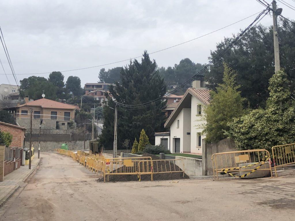Les obres al Mirador de Montserrat. - FOTO: Ajuntament de Santpedor.