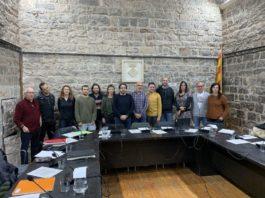 Tots els representants del ple de Santpedor a la sessió del 10 de març.