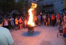 La Flama del Canigó a la Plaça Gran l'any 2019. - FOTO: Emili Giró